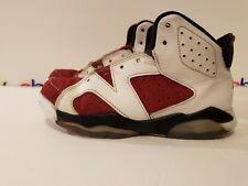 83899dbf0e42 Nike Air Jordan 6 Retro BP White Carmine VI Youth Size 13c 384666 160  beaters