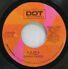 Country 45 Donna Fargo - U. S. Of A / A Woman'S Prayer On Dot Records