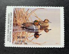 Wtdstamps - 1985 South Carolina - State Duck Stamp - Mint Og Nh -