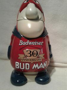 Anheuser Busch  CS401 Bud Man 30th Anniversary  Lidded Stein