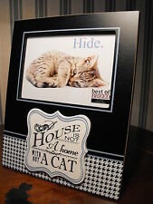 CATS PHOTO FRAME I LOVE MY CAT / CAT LOVERS PHOTO GIFT me and my cat photograph