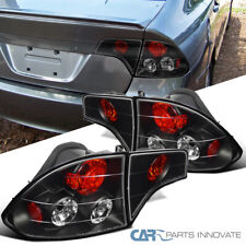 For Honda 06-11 Civic 4Dr Sedan Black Trunk Tail Lights Brake Rear Lamps Pair