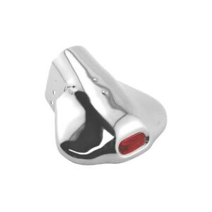 Exhaust Deflector - Red Glass Insert - Stainless Steel - Ford & Mercury