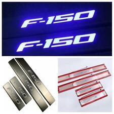 LED 4 Door Stainless Steel Scuff Plate Door Sill Entry Guard For Ford F150 ZS023