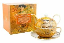 Gustav Klimt Lady Gold Yellow Tea Set For One Tea Pot Cup Saucer Boxed