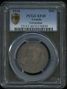 1910 Canada Fifty Cents - PCGS XF40