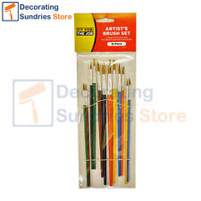 Artists Painting Brushes 12 Piece Set | Fit For The Job Arts & Crafts Brush Pack