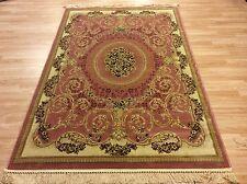 XL Silk Like Traditional Persian Oriental Design Rug Pastel Pink 240x330cm 60 of