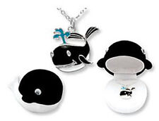 CHILD'S WHALE NECKLACE IN HINGED JEWELRY BOX (BN004)