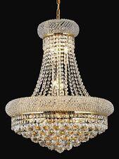 "Palace Bangle 20"" H 8 Lights Crystal Chandelier Light -Gold Precio Mayorista"