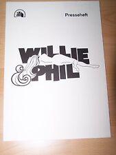 WILLIE & PHIL - Presseheft ´80 - MICHAEL ONTKEAN Margot Kidder RAY SHARKEY