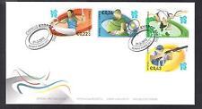 CYPRUS 2012 LONDON OLYMPICS OFFICIAL FDC SHOOTING TENNIS ATHLETICS GYMNASTICS