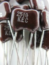 12pcs 250pf 251 500 Volts 2 Dip Silver Mica Capacitor Great For Rf