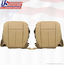 2009 2010 Ford Expedition Driver & Passenger Bottom Leather Seat Cover Tan