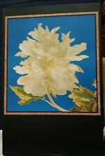 Poster Print w/Gold Accent Black Border - Silk Peony Floral - Prestige Graphics