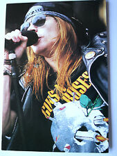 GUNS N ROSES Axl Rose on stage Original Collectable Postcard Official