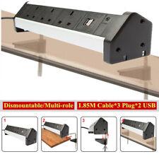 Home Office Workshop Strip Outlet Table Clip-on Plug Desktop Socket Desk Clamp