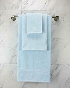 Turkish 100% Cotton ICE BABY BLUE Color Towels,1 Bath, 1 Hand Towel, 1 Washcloth