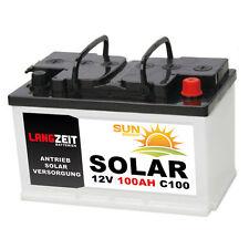 Solarbatterie 12V 100Ah Marine Solar Antrieb Beleuchtung Windkraft Batterie Akku