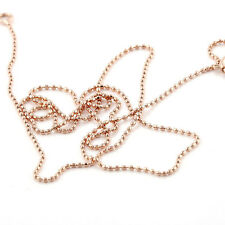 FIN003-17.32 '' Rose Gold Filled Womens Bead Necklace Chain free shipping