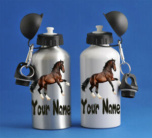 Kids Horse Water Sports Bottle Silver Or White School PE Gym Dance Great Gift!