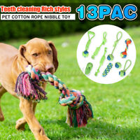 7/9PCS Dog Rope Toys Pet Puppy Bear Tough Strong Rope Tooth Cleaning Chew