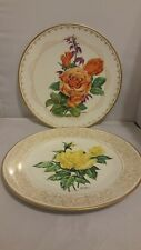 2 PLATES THE EDWARD MARSHALL BOEHM ROSE PLATE COLLECTION