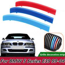 3X Tricolor Plastic Front Center Grille Cover Trim For BMW 5 Series E39 99-04