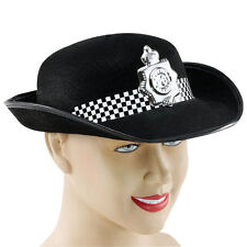 Ladies Black Police Woman Hat - Fancy Dress - WPC Hat - Emergency Services Hat