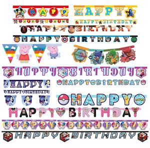 Kids Happy Birthday Letter Decoration Paw Patrol Disney Princess Childrens Party