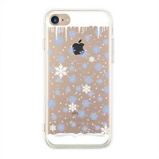 For iPhone 11 Pro Max XS XR X 8 7 6s Christmas Snowflake Soft  Clear Cover Case