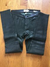 Frame Atelier Le Skinny Pine Dark Green Leather Pants Jeans 24