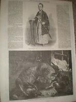 Brother of Shogun Prince Tokugawa Minbutaiho of Japan 1867 old print