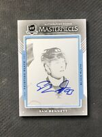 2015-16 UD THE CUP SAM BENNETT ROOKIE MASTERPIECES PRINTING PLATE AUTO #ed 1/1