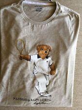 Nwt Ralph Lauren Polo Bear T Shirt Tennis Player Short Sleeve Gray 2Xl