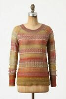 ANTHROPOLOGIE $78 Charlie & Robin Sunmarled Mohair Wool Sweater Top Size Medium