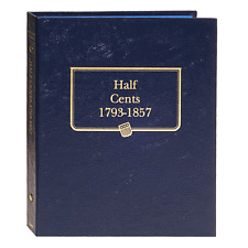 """""""WHITMAN"""" 9109 HALF CENTS 1793-1857 CENTS ALBUM NEW WITH FREE SHIPPING!!"""