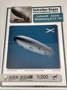 Dirigeable Hindenburg maquette a monter en carton longueur 124cm belle qualité