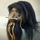 Shrunken Head, Real Leather and Hair, Oddities, Curiosities, Creepy, Bizarre