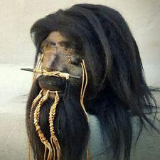 Shrunken Head, Real Leather and Hair, Oddities, Curiosities