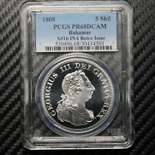1808 Bahamas Retro Issue 5 Shilling Proof PCGS PR68 DCAM