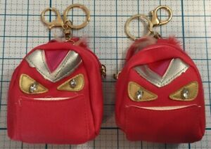 Keychains Pink Mini Monster Backpack/Coin Purse Sarina Set of 2