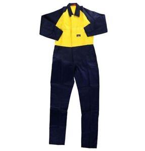 Hard Yakka Yellow and Navy Coverall