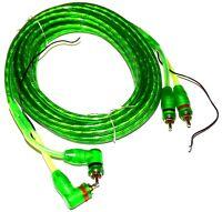 Câble RCA phono + remote 5m mètres pour enceintes auto voiture amplificateur