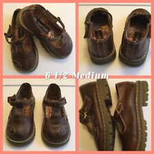Little Girl's Shoes BEAR CREEK size 6 1/2 M Brown Mary Jane T-Strap GUC