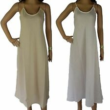 FULL SLIP 100% COTTON Size 12 14 16 18 20 NEW Long Dress Australian Designer