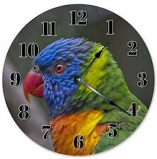 "10.5"" RAINBOW LORIKEET BIRD CLOCK Large 10.5"" Wall Clock Home Décor Clock - 3110"
