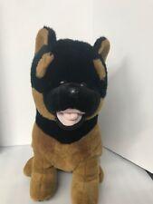 "Doberman Pinscher Dog Puppy Plush Stuffed Animal 14"" Tall Toy Brown Black"