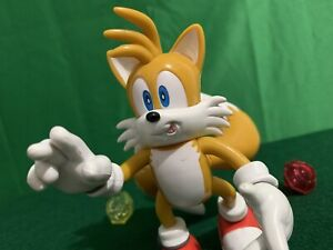 """Sonic X Tails Jazwares 5"""" Action Figure w/ propeller tail Chaos Emeralds 2008"""