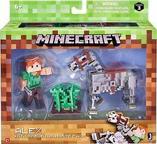 PERSONAGGIO Minecraft 3 pollici figura-Alex e Scheletro CAVALLO Pack-NUOVISSIMO